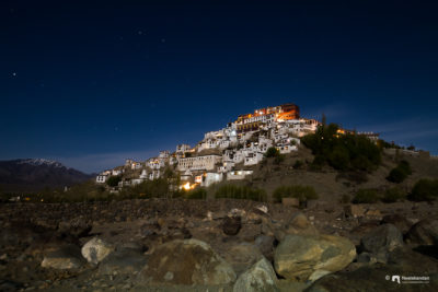 It's so beautiful to see Thiksey monastery at night. Taking the photograph at this shivering temprature was quit a thrill.